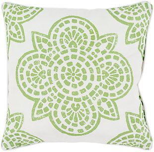 """Hemma Green 18"""" Indoor/Outdoor Throw Pillow, , large"""