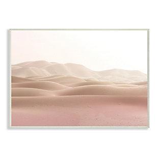 Stupell Desert Sand Dunes Landscape Beige White Sky 13 x 19 Wood Wall Art, Beige, large