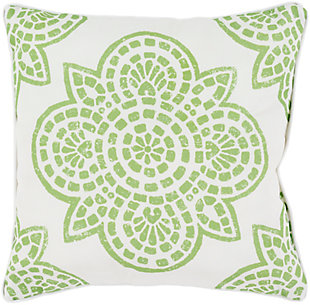 "Hemma Green 20"" Indoor/Outdoor Throw Pillow, , rollover"