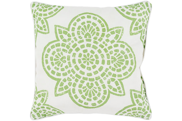 """Hemma Green 20"""" Indoor/Outdoor Throw Pillow, , large"""