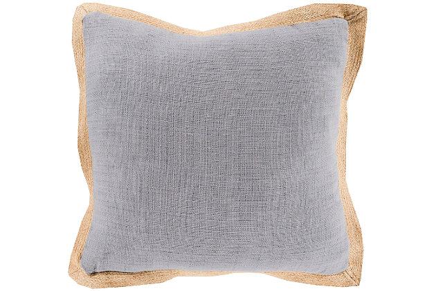 "Jute Flange Woven 18"" Throw Pillow, , large"