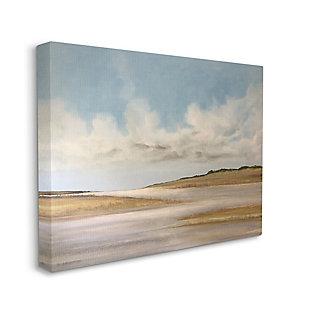 Stupell Calming Creek Landscape Warm Tones Cloudy Sky 36 x 48 Canvas Wall Art, Beige, large