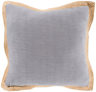"Jute Flange Woven 22"" Throw Pillow, , rollover"