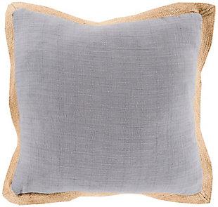 "Jute Flange Woven 22"" Throw Pillow, , large"
