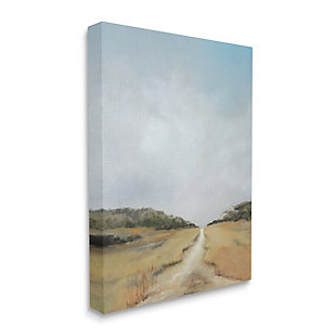 Stupell Tranquil Path Through Field Blue Sky 36 X 48 Canvas Wall Art, Beige, large