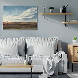Stupell Cloudy Country Landscape Distant Town Earth Tones 36 X 48 Canvas Wall Art, Blue, rollover