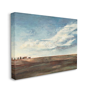 Stupell Cloudy Country Landscape Distant Town Earth Tones 36 X 48 Canvas Wall Art, Blue, large