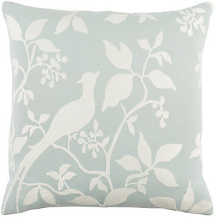 "Kingdom Birch Light Gray 18"" Throw Pillow, , large"