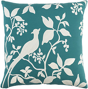"Kingdom Birch Teal 18"" Throw Pillow, , large"