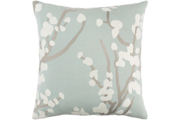 "Kingdom Anna Light Gray 18"" Throw Pillow, , large"