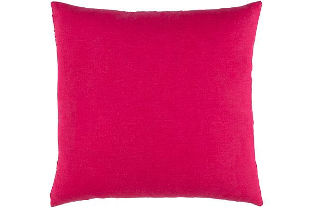 """Kantha Bright Pink 18"""" Throw Pillow, Multi, large"""
