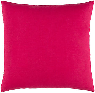 """Kantha Bright Pink 20"""" Throw Pillow, Multi, large"""