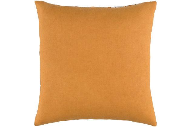 """Kantha Burnt Orange 18"""" Throw Pillow, , large"""