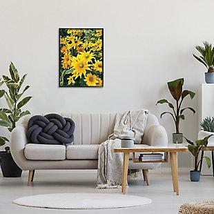 Stupell Sunflower Field Blooming Green Bulbs Yellow Petals 24 x 30 Framed Wall Art, Yellow, rollover