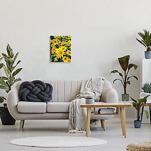Stupell Sunflower Field Blooming Green Bulbs Yellow Petals 13 x 19 Wood Wall Art, Yellow, rollover