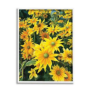 Stupell Sunflower Field Blooming Green Bulbs Yellow Petals 24 x 30 Framed Wall Art, Yellow, large