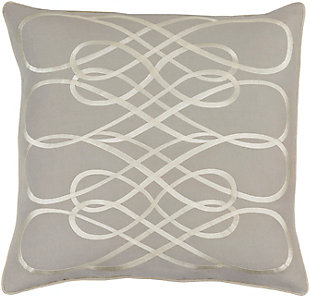 "Kash Ribbon Design 22"" Throw Pillow, , large"