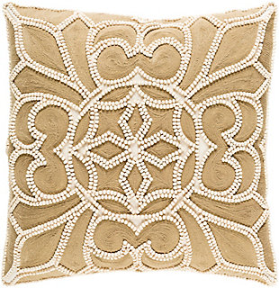 "Pastiche Beaded 22"" Throw Pillow, , rollover"