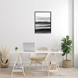 Stupell Misty Clouds Eerie Mountain Landscape Black White 24 x 30 Framed Wall Art, Gray, rollover