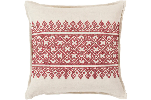 "Pentas Woven Print 22"" Throw Pillow, , large"