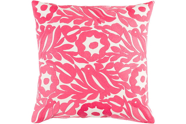 "Pallavi Floral Print 18"" Throw Pillow, , large"
