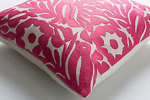 "Pallavi Floral Print 20"" Throw Pillow, , rollover"