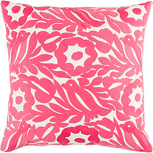 "Pallavi Floral Print 20"" Throw Pillow, , large"