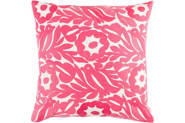 "Pallavi Floral Print 22"" Throw Pillow, , large"