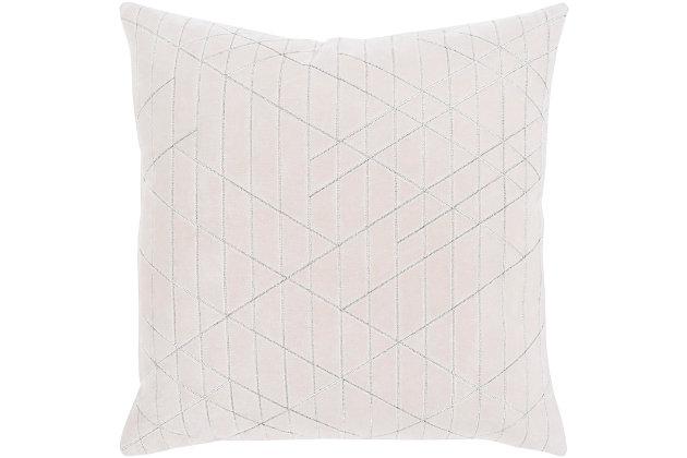 "Regan Velvet 20"" Throw Pillow, , large"
