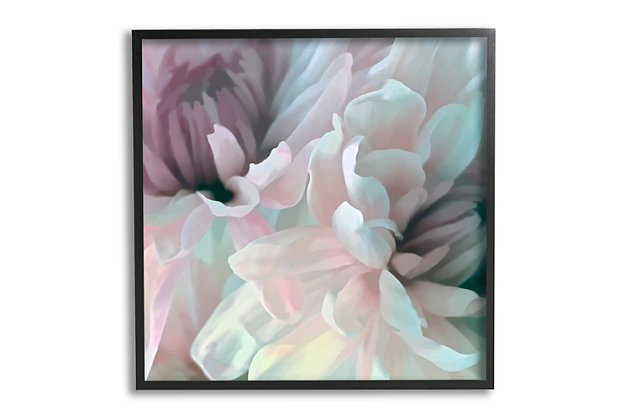 Stupell Pink Floral Petal Study Blush Tone Flowers 24 X 24 Framed Wall Art, Pink, large