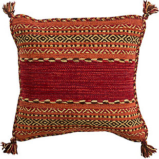 "Trenza Hand Woven 18"" Throw Pillow, , rollover"