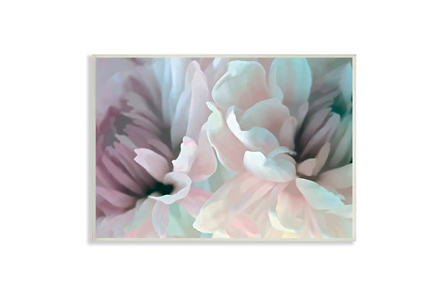 Stupell Full Bloom Floral Petals Alluring Spring Flower 13 x 19 Wood Wall Art, Pink, large