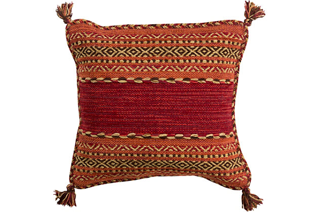 "Trenza Hand Woven 22"" Throw Pillow, , large"