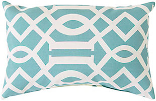 "Sally Lattice 13""x 20"" Indoor/Outdoor Throw Pillow, , large"