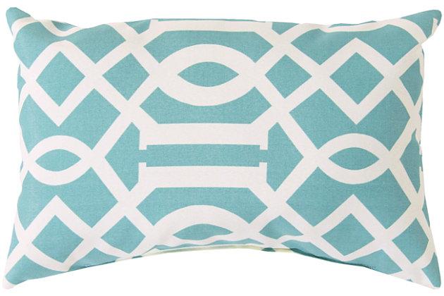 "Sally Lattice 13""x 20"" Indoor/Outdoor Throw Pillow, , large"