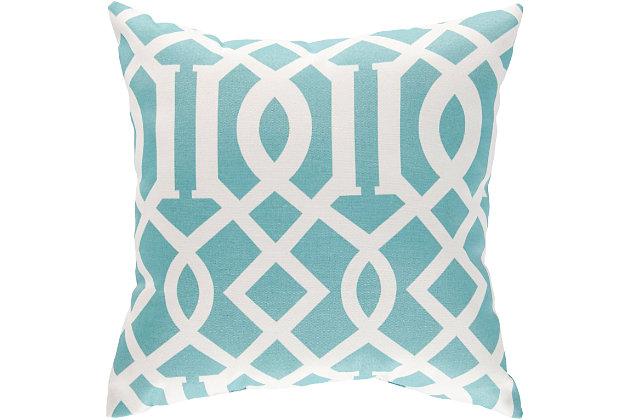 "Sally Lattice 18"" Indoor/Outdoor Throw Pillow, , large"