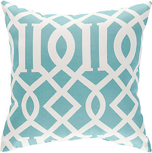 "Sally Lattice 20"" Indoor/Outdoor Throw Pillow, , large"
