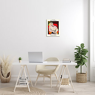 Stupell Picasso Traditional Abstract Painting Dreaming Red Chair 13 x 19 Wood Wall Art, Red, rollover