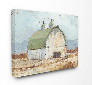 Stupell Natural Earth Painted Barn 36 x 48 Canvas Wall Art, Brown, large