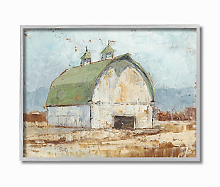 Stupell Natural Earth Painted Barn 16 x 20 Framed Wall Art, Brown, large