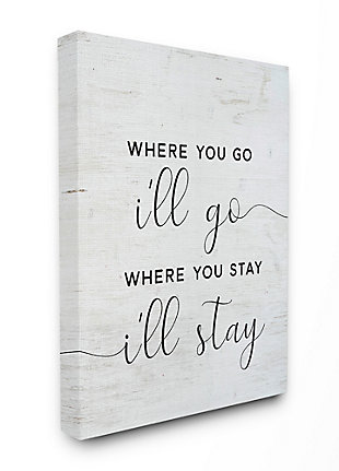 Stupell I'll Go Home Family Inspirational Word On Wood Texture Design 36 x 48 Canvas Wall Art, Black, large