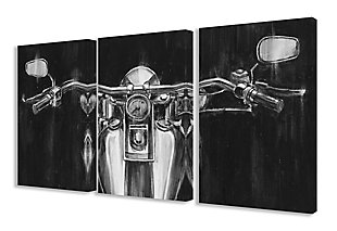 Stupell Black and White Classic Motorcycle 16 x 24 Canvas Wall Art (Set of 3), , rollover