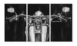 Stupell Black and White Classic Motorcycle 11 x 17 Wood Wall Art (Set of 3), , rollover