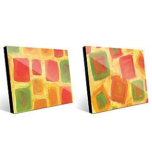 Ordine Apparente Sparso 11x14 Acrylic Wall Art Print Set, Multi, large