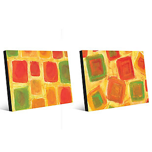 Ordine Apparente Sparso 11x14 Metal Wall Art Print Set, Multi, large