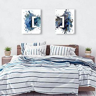 Rettangolo Blu Couple 11x14 Acrylic Wall Art Print Set, Multi, rollover