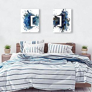 Rettangolo Blu Couple 11x14 Metal Wall Art Print Set, Multi, rollover