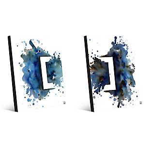 Rettangolo Blu Couple 11x14 Metal Wall Art Print Set, Multi, large