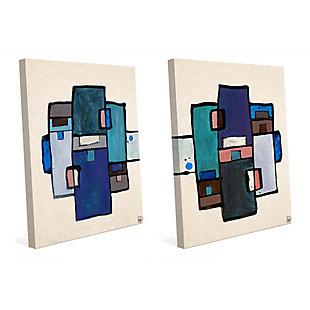 Chiavistello 11x14 Canvas Wall Art Print Set, Multi, large