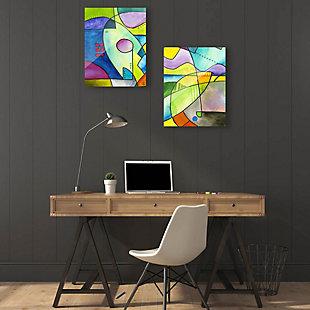 Outline Couple 11x14 Acrylic Wall Art Print Set, Multi, rollover